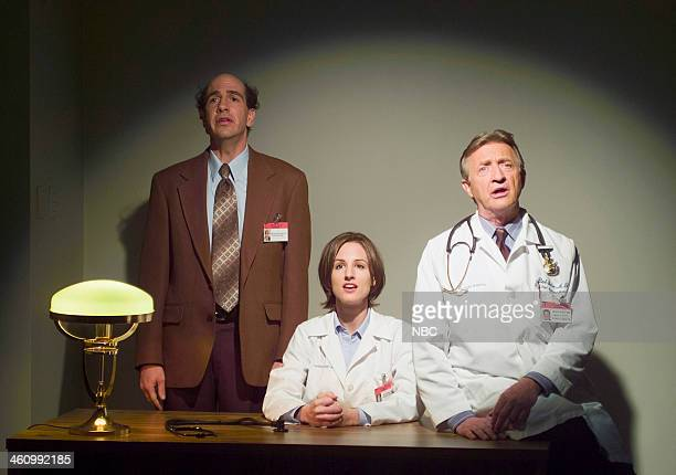 """My Philosophy"""" Episode 13 -- Pictured: Sam Lloyd as Ted Buckland, Kit Pongetti as Dr. Mitchell, Ken Jenkins as Dr. Bob Kelso --"""