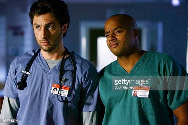 """My Saving Grace"""" -- Desperate times call for desperate measures when lifelong adversaries Drs. Kelso and Cox ally to oust Dr. Maddox from Sacred..."""
