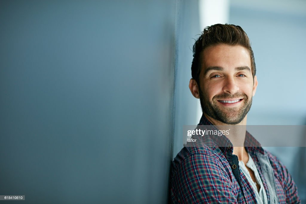 My smile can sell anything : Stock Photo