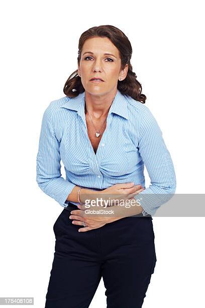 my stomach aches - morning sickness stock photos and pictures