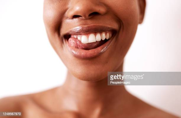 my teeth never looked this good - lips stock pictures, royalty-free photos & images