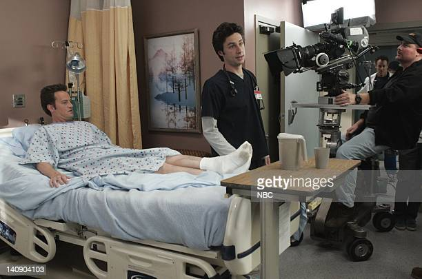 SCRUBS 'My Unicorn' Episode 11 Aired 11/23/04 Pictured Matthew Perry as Murray Marks Zach Braff as Dr John 'JD' Dorian other cast and crew Photo by...