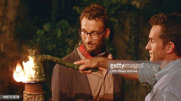 'My Wheels Are Spinning' Jeff Probst extinguishes Stephen Fishbach's torch at Tribal Council during the eleventh episode of SURVIVOR Wednesday Nov 25...