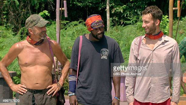 'My Wheels Are Spinning' Keith Nale Jeremy Collins and Stephen Fishbach during the eleventh episode of SURVIVOR Wednesday Nov 25 The new season in...
