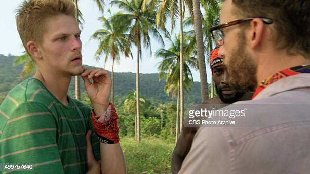 'My Wheels Are Spinning' Spencer Bledsoe and Jeremy Collins and Stephen Fishbach during the eleventh episode of SURVIVOR Wednesday Nov 25 The new...