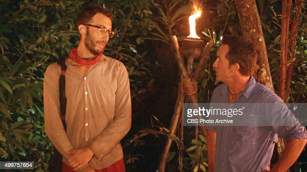 'My Wheels Are Spinning' Stephen Fishbach and Jeff Probst during the eleventh episode of SURVIVOR Wednesday Nov 25 The new season in Cambodia themed...