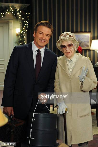 30 ROCK 'My Whole Life is Thunder' Episode 708 Pictured Alec Baldwin as Jack Donaghy Elaine Stritch as Colleen Donaghy