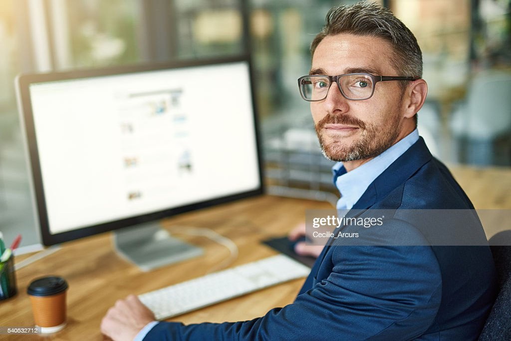 My workday is more streamlined thanks to technology : Stock Photo