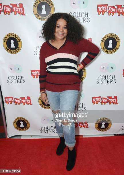 Mya Angelise attends The Couch Sisters 1st Annual Toys For Tots Toy Drive held onNovember 20 2019 in Glendale California