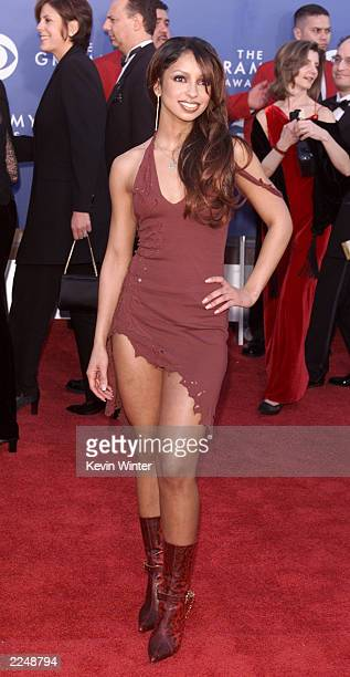 Mya arrives at the 43rd Annual Grammy Awards at Staples Center in Los Angeles CA on February 21 2001 Photo credit Kevin Winter/Getty Images