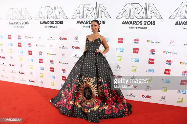Mya arrives for the 32nd Annual ARIA Awards 2018 at The Star on November 28 2018 in Sydney Australia