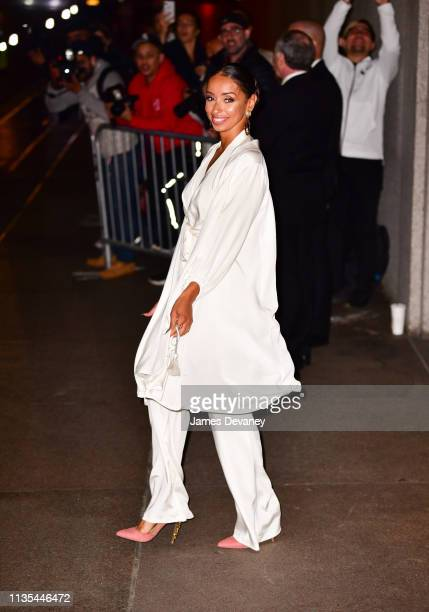 Mya arrives to wedding reception for Char Defrancesco and Marc Jacobs at The Grill and The Pool on April 6 2019 in New York City