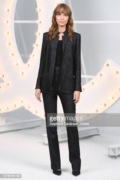 Mya Bollaers attends the Chanel Womenswear Spring/Summer 2021 show as part of Paris Fashion Week on October 06, 2020 in Paris, France.