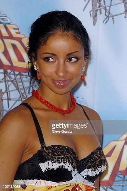 Mya during 2005 MTV Movie Awards Press Room at Shrine Auditorium in Los Angeles California United States