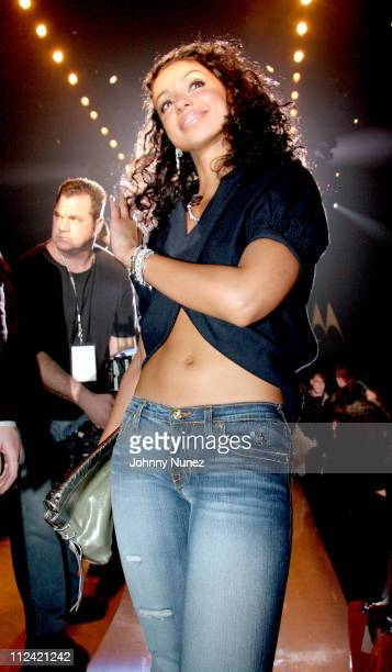 Mya during Olympus Fashion Week Fall 2006 Baby Phat Front Row and Backstage at Bryant Park in New York City New York United States