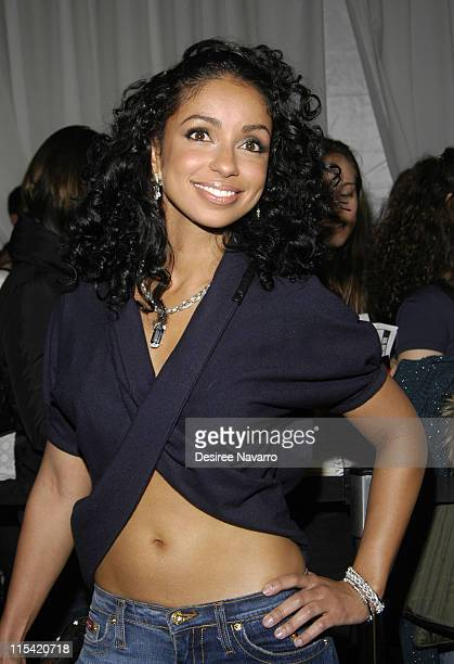 Mya during Olympus Fashion Week Fall 2006 Baby Phat Inside Arrivals and Departures at The Tent Bryant Park in New York City New York United States