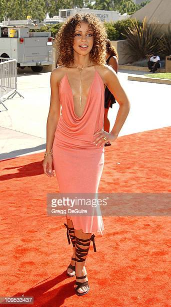 Mya during The 8th Annual Soul Train 'Lady Of Soul' Awards Arrivals at Pasadena Civic Auditorium in Pasadena California United States