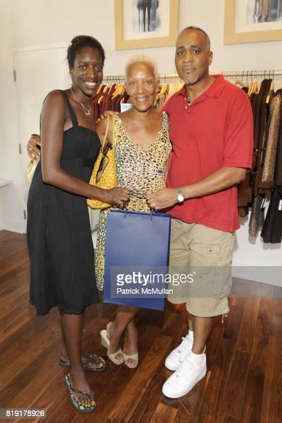 Mya Monroe Marita Monroe and Robert Matting attend CARLOS FALCHI JEFFREY THORPE Host A TwoDay Presentation at Magaschoni on July 24 2010 in East...