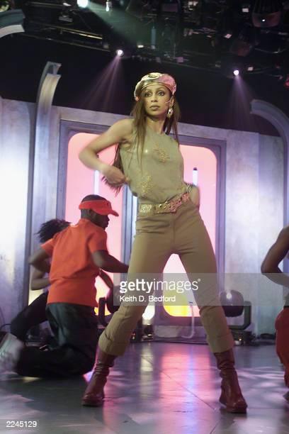 Mya performing at MTV Fashionably Loud 2000 in MTV's New York City Studio December 7 2000