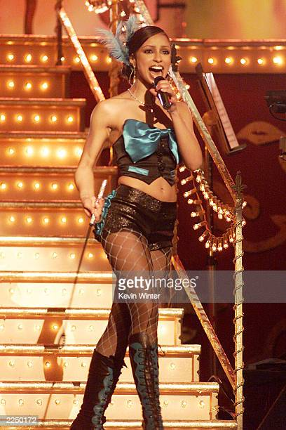 Mya performing at the 44th Annual Grammy Awards held at the Staples Center Los Angeles CA on Wednesday night Feb 27 2002