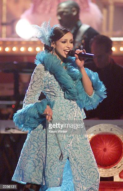 Mya performs at the 44th Annual Grammy Awards held at the Staples Center In Los Angeles Ca Feb 27 2002 Photo by Kevin Winter/Getty Images