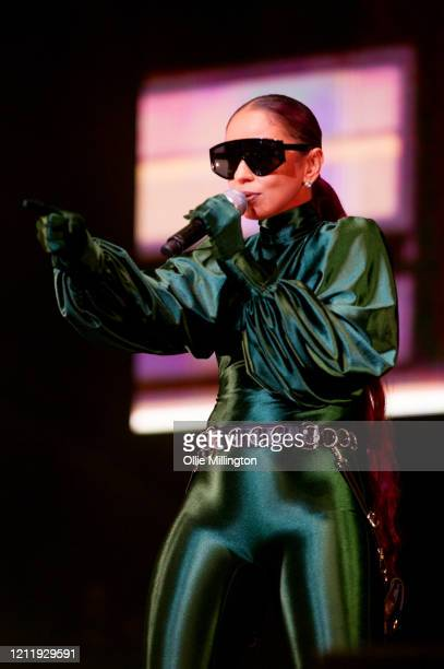 Mya performs onstage during Kisstory The Blast Off Tour at The O2 Arena on March 11 2020 in London England