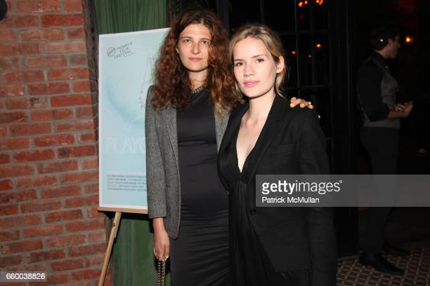 Mya Singer and Kate Bossman attend House of Lavande Hosts the Nest Foundation Gala at Bowery Hotel on May 1 2009 in New York City
