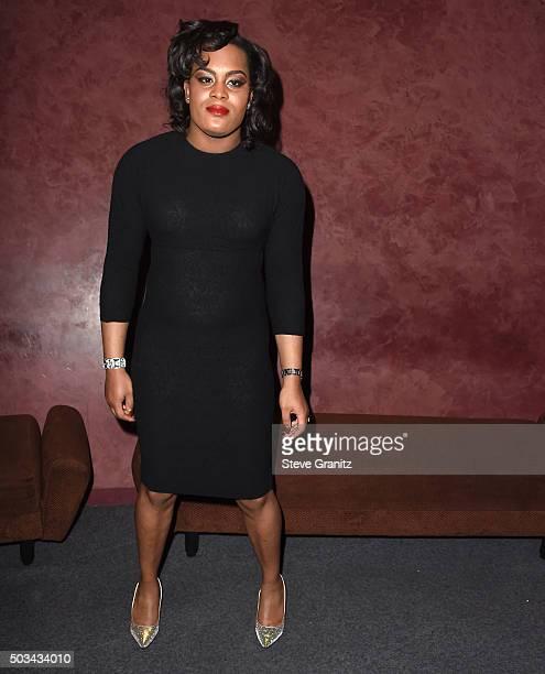 Mya Taylor Special Screening Of Tangerine at Landmark Nuart Theatre on January 4 2016 in Los Angeles California