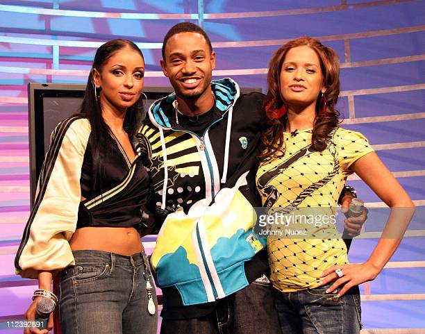 Mya Terrence and Rocsi during Mya Visits BET's 106 Park April 25 2007 at BET Studio in New York City New York United States