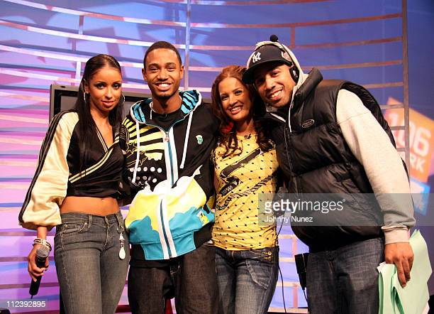 Mya TerrenceRocsi and Guest during Mya Visits BET's 106 Park April 25 2007 at BET Studio in New York City New York United States