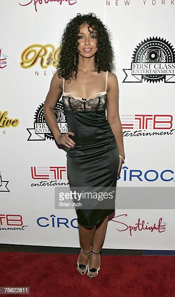 """Mya walks the red carpet at the """"R & B Live Concert Series Presents Mya and Claudette Ortiz"""" concert at Spotlight Live on July 24 in New York City."""