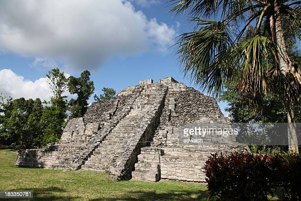 Myan temple at Chacchoben ruins in Mexico