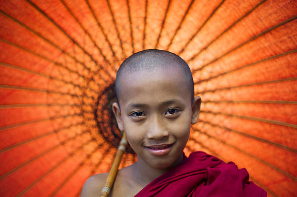 Myanmar, Bagan, Buddhist young monk