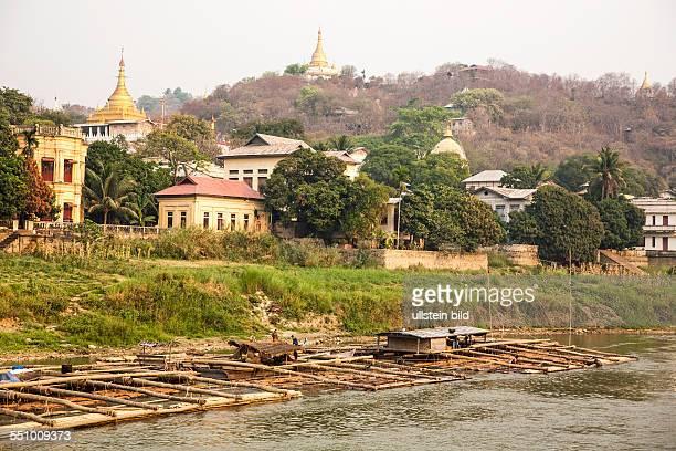 MMR Myanmar Burma Birma Mandalay Zentrum von Myanmar am IrawadiFluss letzte Hauptstadt des birmanischen Koenigreichs Sagain SagainHuegel Kloester...