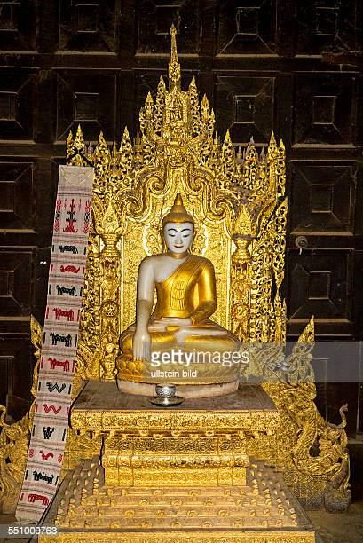 MMR Myanmar Burma Birma Mandalay Zentrum von Myanmar am IrawadiFluss letzte Hauptstadt des birmanischen Koenigreichs Inwa Teakholz Kloster Bagaya...