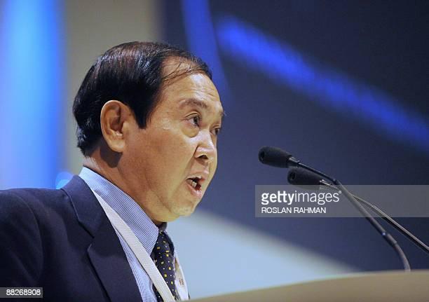 Myanmar deputy minister of defence Major General Aye Myint addresses the 8th International Institute for Strategic Studies ShangriLa Dialogue...