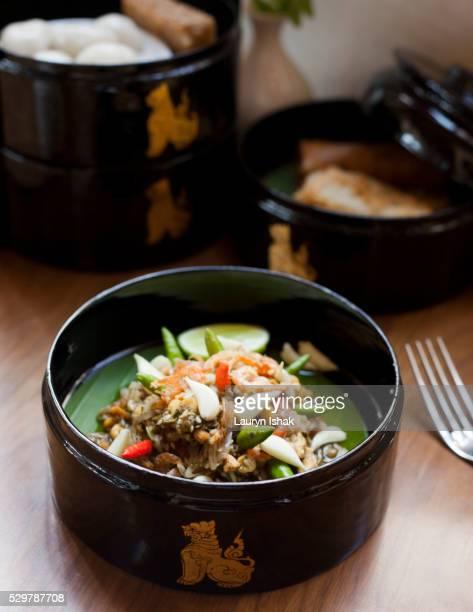 Myanmar High Tea set at Strand Hotel, Yangon, Myanmar