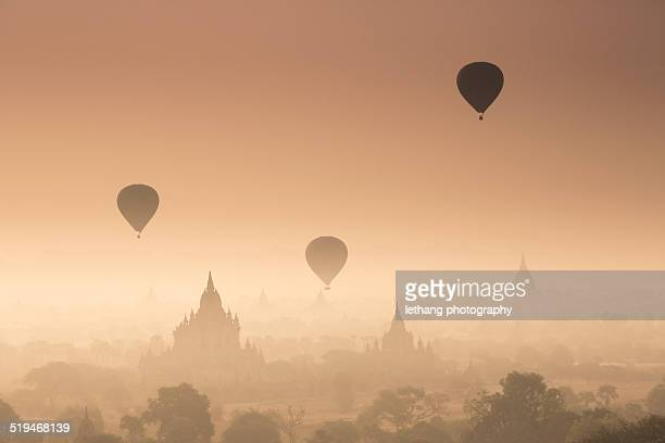 Myanmar - Misty dawn over ancient Bagan