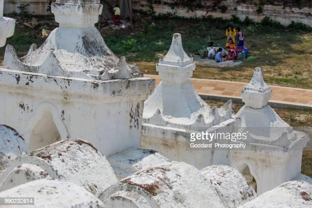 myanmar: mya thein tan pagoda - mount meru stock photos and pictures