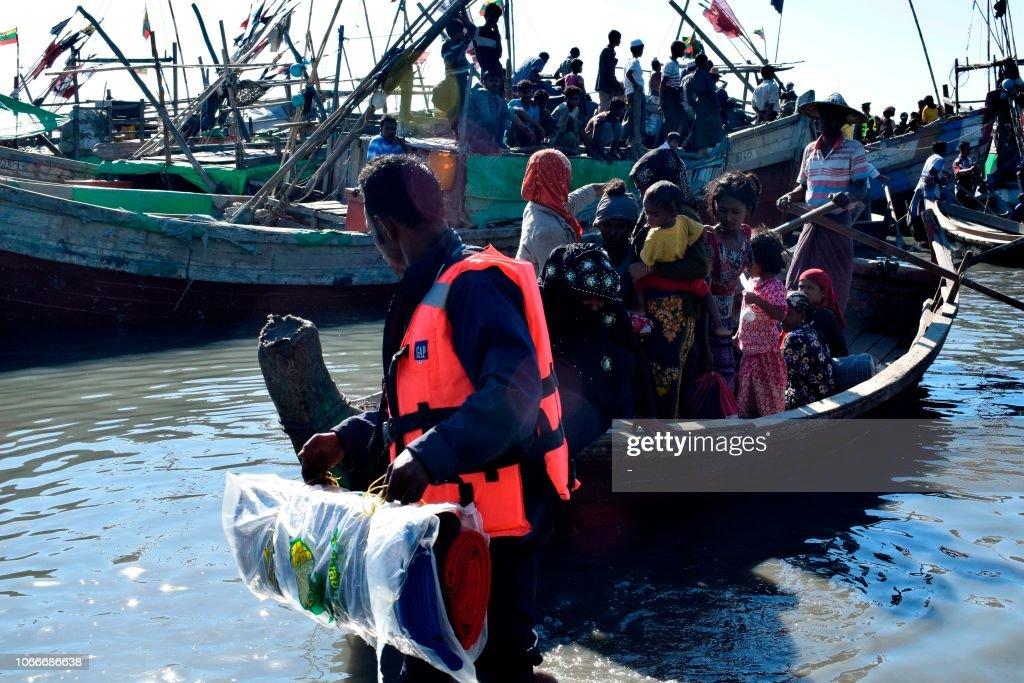 MYANMAR-ROHINGYA-CONFLICT-RIGHTS : News Photo