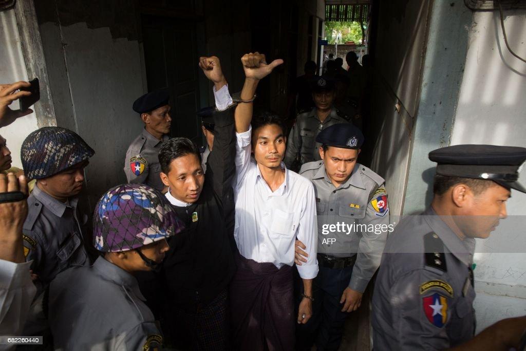 MYANMAR-COURT-PROTEST : News Photo
