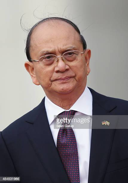 Myanmar President Thein Sein arrives at the Chancellery to meet with German Chancellor Angela Merkel on September 3, 2014 in Berlin, Germany....