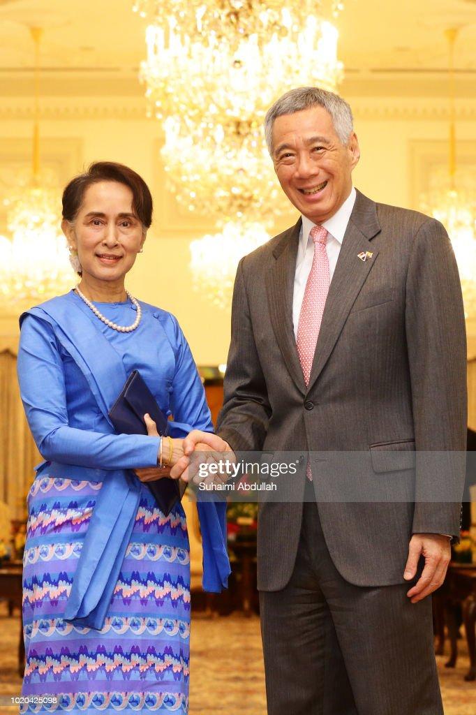 Aung San Suu Kyi Visits Singapore