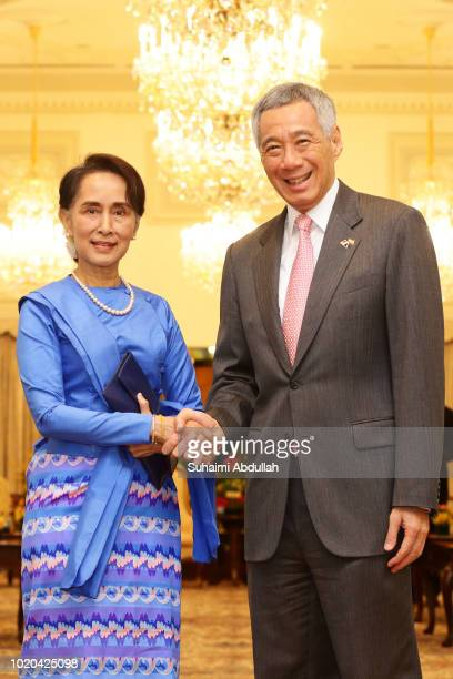 Myanmar State Counsellor Aung San Suu Kyi delivers the 43rd Singapore Lecture titled Myanmar's Democratic Transition Challenges and Way Forward at...