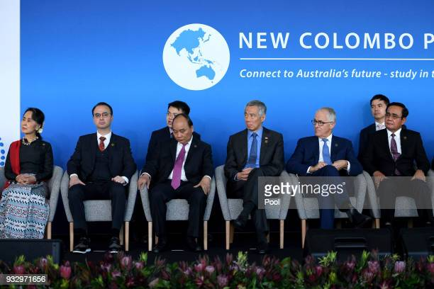 Myanmar State Counsellor Aung San Suu Kyi Philippines Secretary of Foreign Affairs Alan Peter Cayetano Vietnam Prime Minister Nguyen Xuan Phuc...