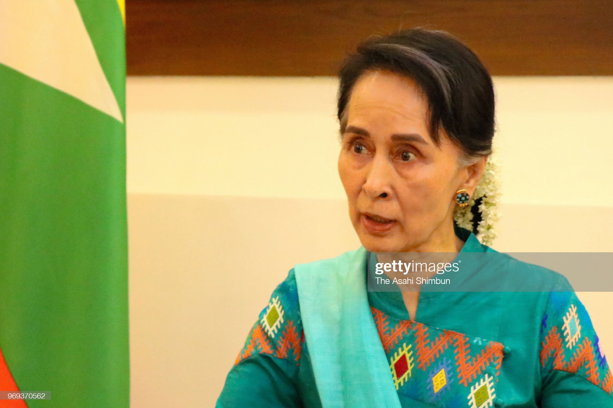 Myanmar State Counsellor Aung San Suu Kyi Interview : News Photo