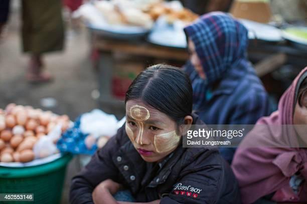 ASIA SITTWE RAKHINE MYANMAR Myanmar women gather outside a fresh market According to Non Governmental Organizations Myanmar is still one of the...