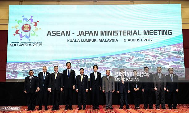 Myanmar's Foreign Minister Wunna Maung Lwin Philippine Foreign Secretary Albert del Rosario Singapore's Foreign Affairs Permanent Secretary Chee Wee...