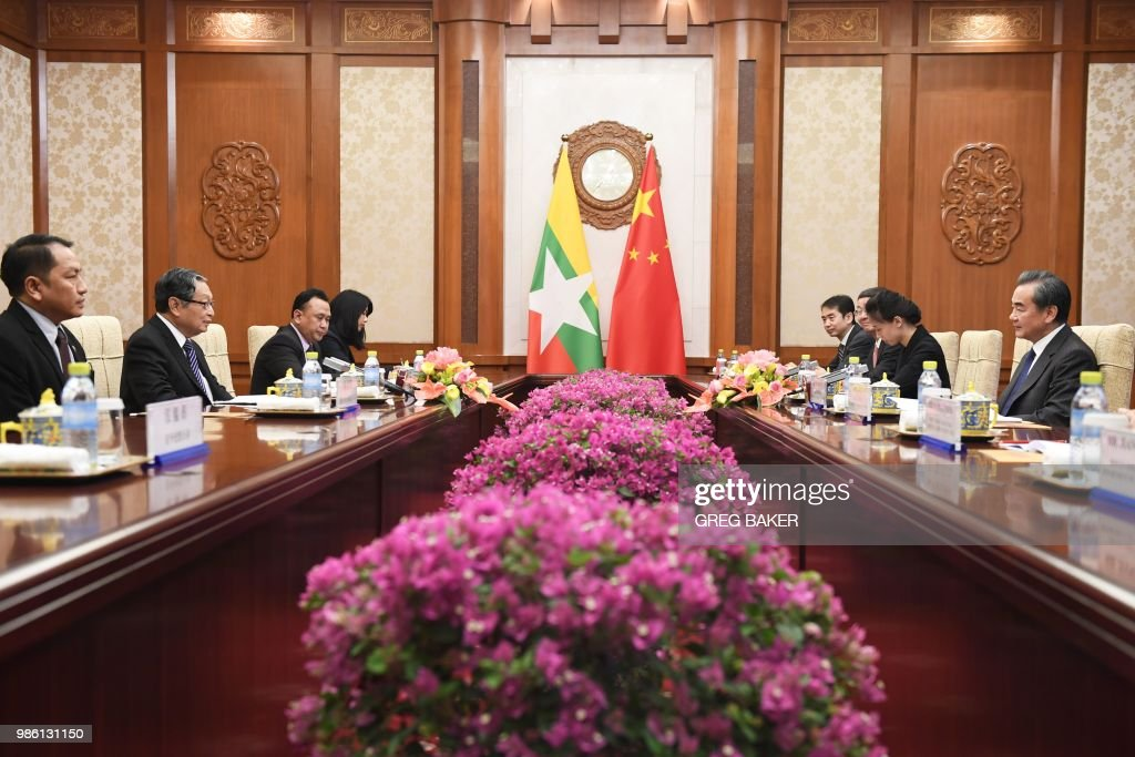 CHINA-MYANMAR-DIPLOMACY : News Photo