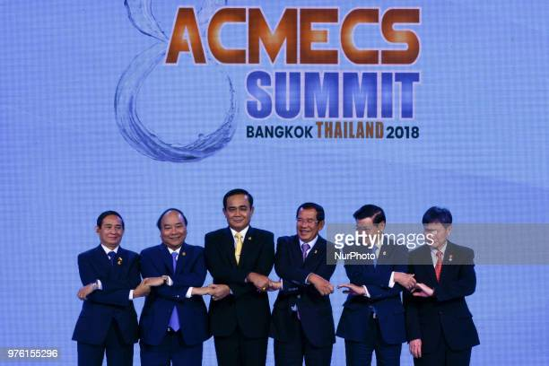 Myanmar's President U Win Myint Vietnam's Prime Minister Nguyen Xuan Phuc Thailand's Prime Minister Prayut Chanocha Cambodia's Prime Minister Hun Sen...